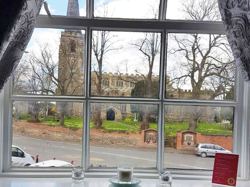 Kegworth Beauty Salon Room overlooks the Church