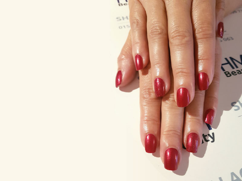 Shellac Manicure Derby in the lovely red baroness colour