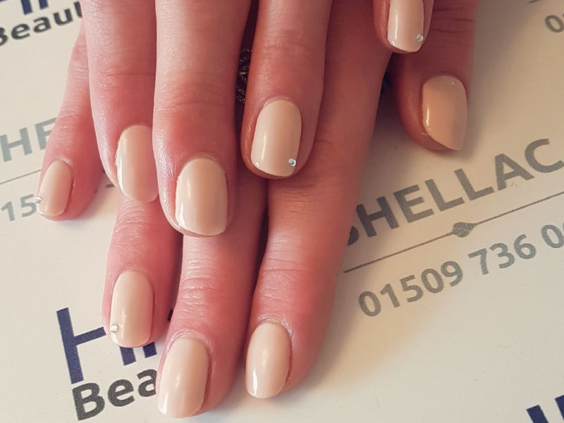 Manicure in Kegworth using Uncovered colour by Shellac