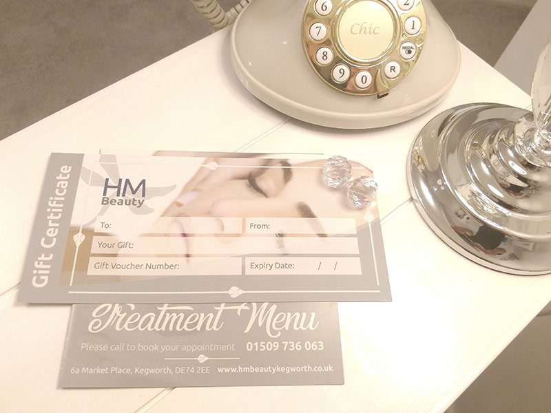 Gift voucher for HM Beauty Salon in Kegworth